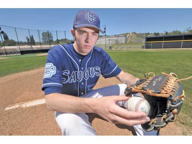 Saugus High senior pitcher Scott Kerrigan is making the most of his senior season despite his knee injury.