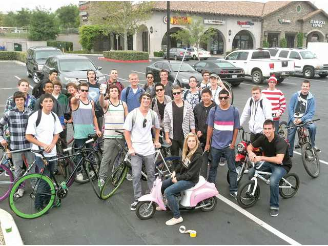 West Ranch students ride Anything But Cars
