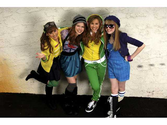 """Santa Clarita-based teen vocal quartet Little Ladiez -- from left, Lindsay Ryan, Kelsey Lee Smith, Molly J. Ryan and Hayley Smith -- have been chosen to sing the National Anthem and """"God Bless America"""" at SCV Dodger Day festivities on May 14."""