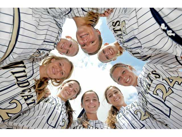 West Ranch has four sets of sisters on its softball team that finished second in the Foothill League, the highest finish in program history. They are, counterclockwise from the top: Julia Lombardi, Lauren Lombardi, Mollie Sorenson, Kylie Sorenson, Lauren Lindvall, Janelle Lindvall, Taylor Gaff and Alex Gaff.