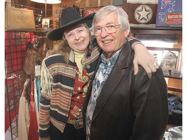 Bobbi Jean and Jim Bell own the OutWest Western Boutique and Cultural Center on Main Street in downtown Newhall.
