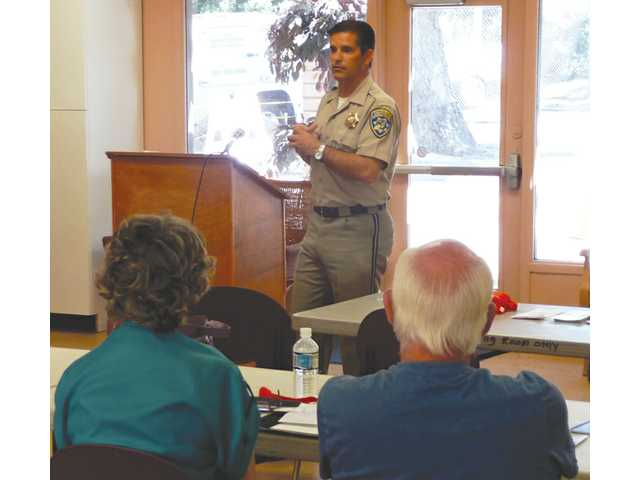 Lutz speaks to seniors about driving safely at a past event at the Senior Center.