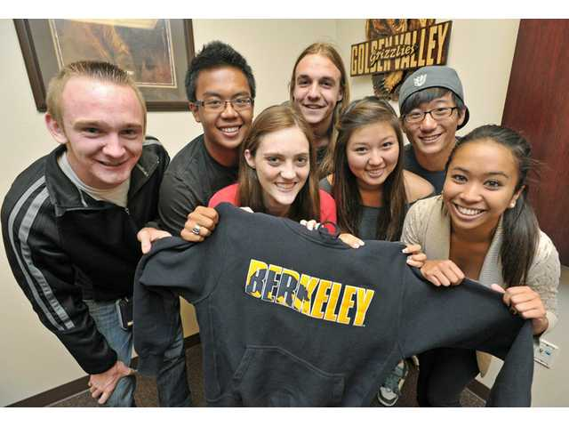 The seven graduating seniors from Golden Valley High School headed to University of California, Berkeley are: from left, Dakota Nunley, Christian Navarro, Madelyn Brehm, Andrew Raulinaitis, Christine Lee, Alexander Lee and Katrina Lauron.