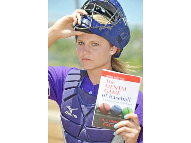 "Valencia catcher Karlie Habitz has found a new level of positivity after reading ""The Mental Game of Baseball"" prior to the season on the recommendation of her travel ball coach."