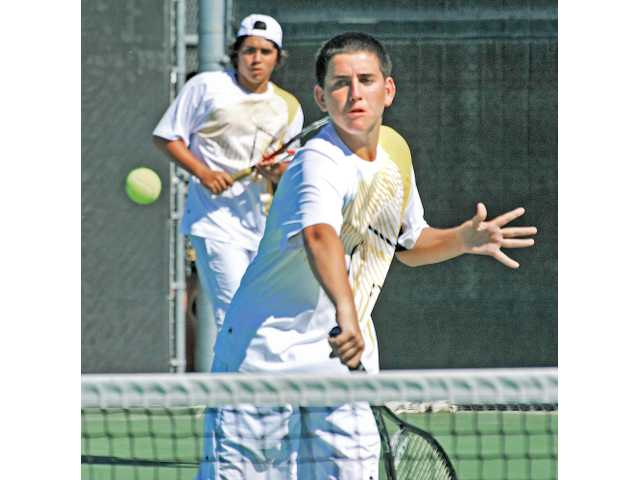 Senior Anders Jansson, left, and freshman Joey Fernicola represent Valencia as league's best doubles team, finishing with a 30-0 record in league.
