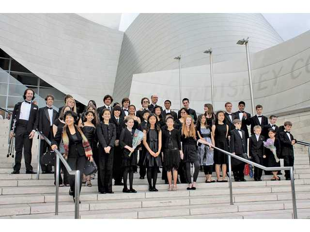 The Santa Clarita Valley Youth Orchestra performed at the Walt Disney Concert Hall in Los Angeles on May 14. The performance was part of the Los Angeles Philharmonic Orchestra's Youth Orchestra Festival and the culmination of a two-year partnership between the two groups.