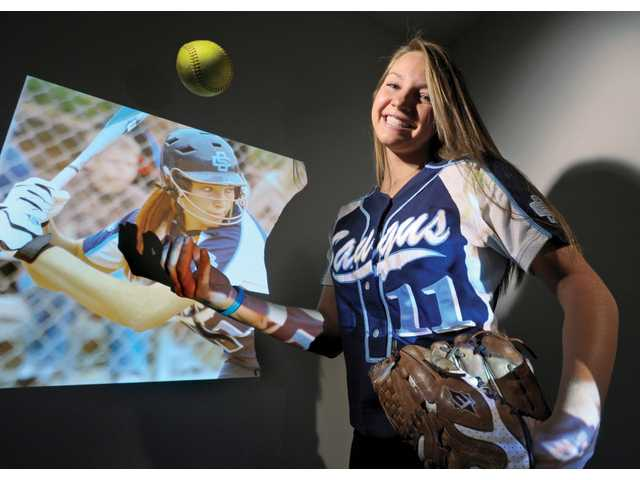 Saugus senior Jenna Kelly led the Centurions to their first Foothill League title since 2004 and posted big numbers while doing so.