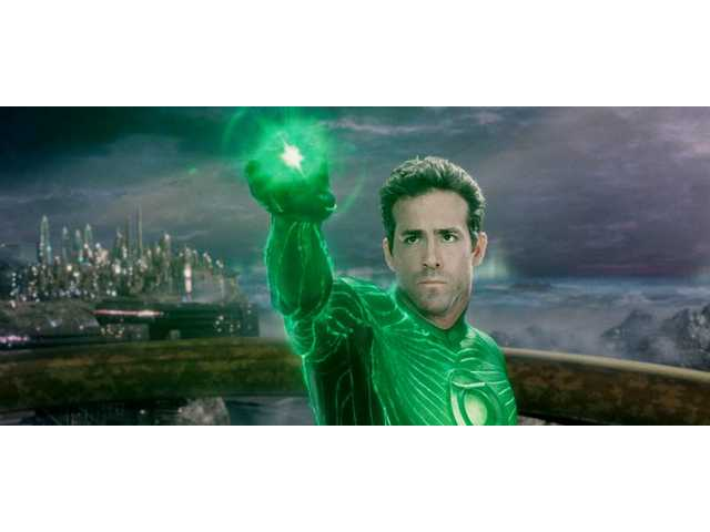 Ryan Reynolds plays the Green Lantern in Warner Bros. Pictures' action adventure film.