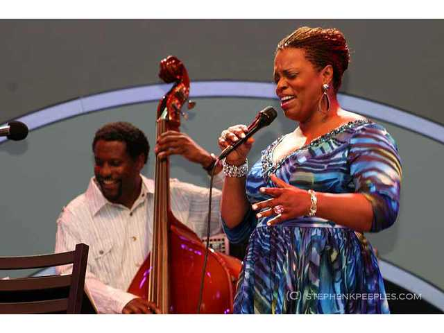 The 33rd annual Playboy Jazz Festival presented a diverse lineup of artists at the Hollywood Bowl on Saturday and Sunday, June 11 and 12, including Grammy-winner Dianne Reeves, backed by a quartet including bassist Reggie Veal.