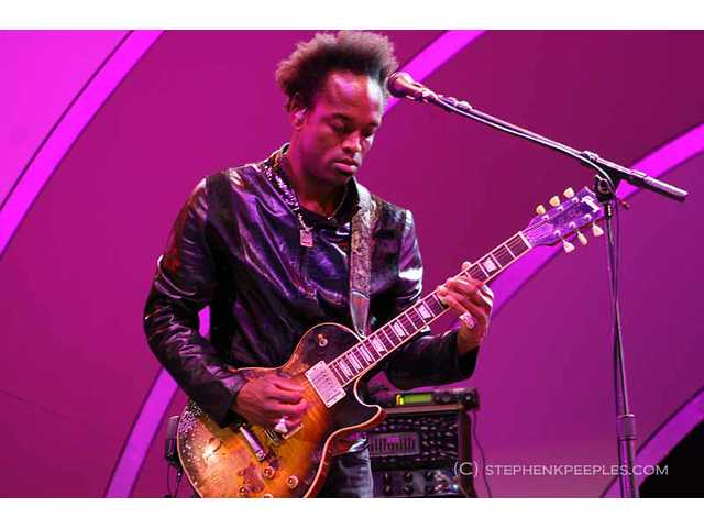 Roots guitarist Captain Kirk Douglas paced the stage like he'd been uncaged during the band's headlining set on Saturday, June 11, at the 33rd annual Playboy Jazz Festival at the Hollywood Bowl.