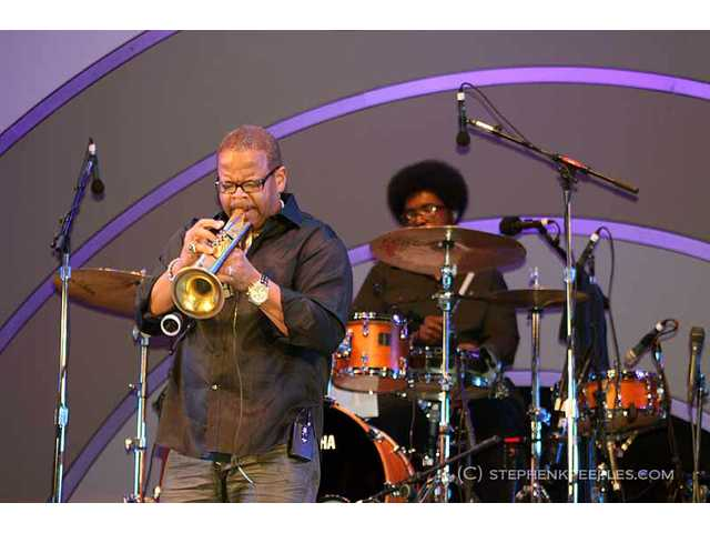 Grammy-winning trumpeter Terence Blanchard joined ?uestlove and The Roots for a jam during the band's headlining set on Saturday, June 11 at the 33rd annual Playboy Jazz Festival at the Hollywood Bowl.