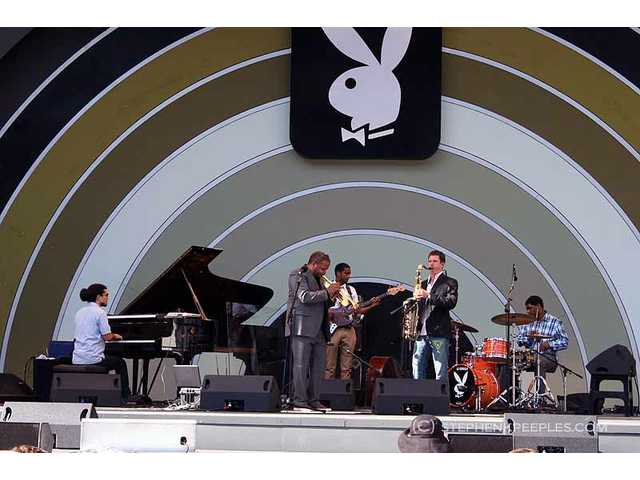 Grammy-winning trumpeter Terence Blanchard and his band filled in for an ailing Lee Konitz on Sunday, June 12, during the 33rd annual Playboy Jazz Festival at the Hollywood Bowl.