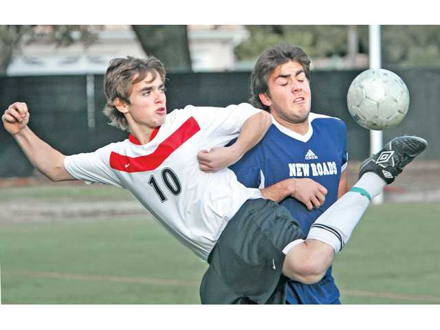 Striker Daniel Stratton (10) and the Santa Clarita Christian boys soccer team earned its first CIF playoff berth since 2006, falling to Vistamar in the first round.