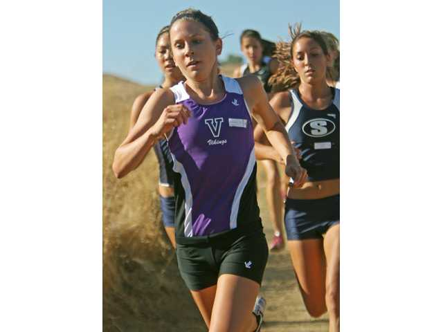 Sarah Adams became the girls cross country team's first CIF-SS Div. I finals representative.