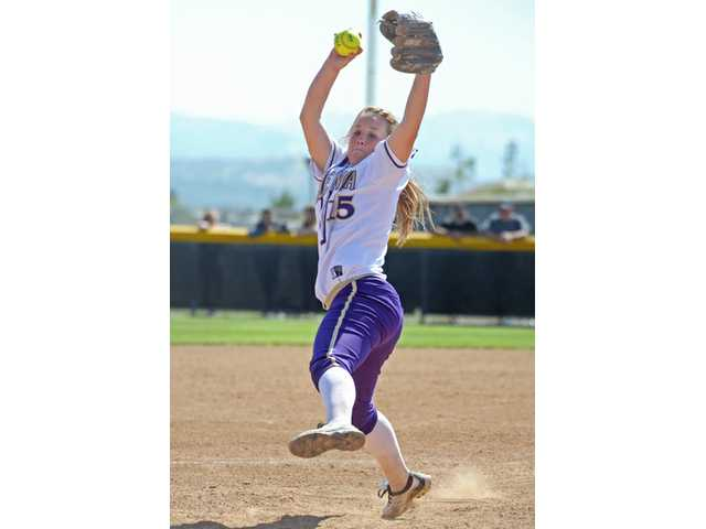 With ace Carly Mortensen out with an injury, the softball team's streak of 10 straight league titles came to an end.