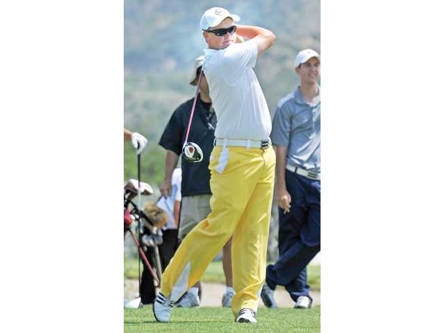 Golfer J.J. Holen was the league MVP this year.