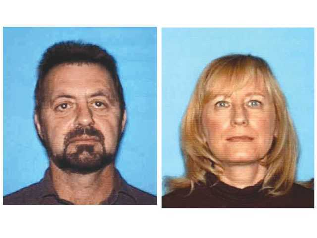 Detectives have not named Dusan Klein, left, as a suspect in the murder of his wife, Renata, right. The Coroner's Office said Tuesday that Renata Klein's cause of death was asphyxiation. Detectives are looking for Dusan Klein.