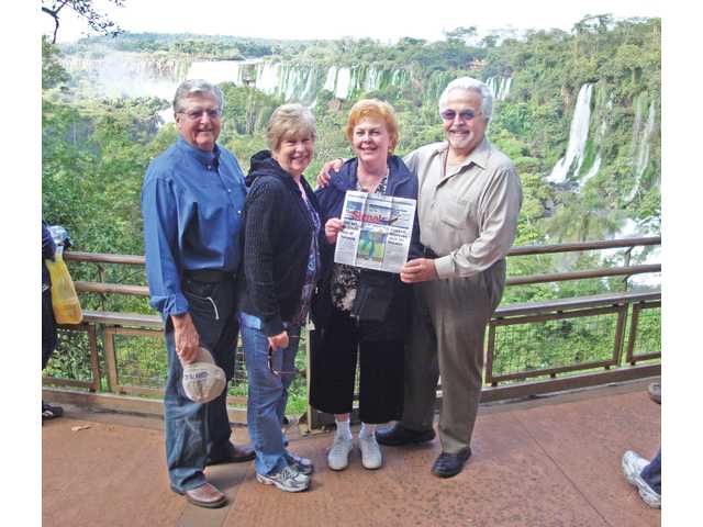 Karen Ilich, owner of the Travel Center of Santa Clarita, and her husband, Mirko, enjoyed Iguazu Falls, Argentina, with friends, David and Jeannine Dolson, of Valencia.