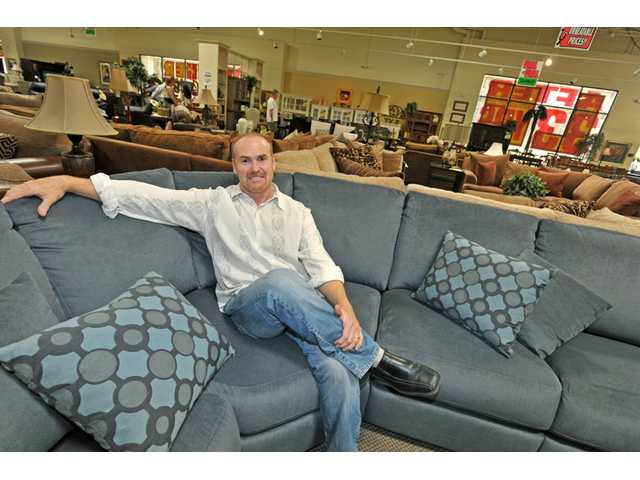 Marvelous Owner Greg Moser Poses Inside Consumers Furniture Gallery In Santa Clarita.