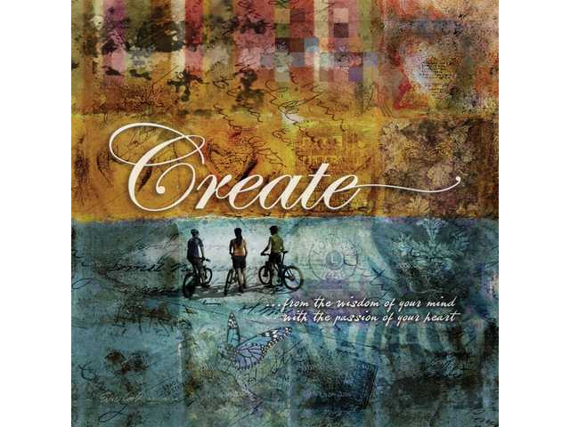 "Cook's first piece in the ""Inspirational Canvas"" was ""Create"", which she originally produced for a student art show in 2007."