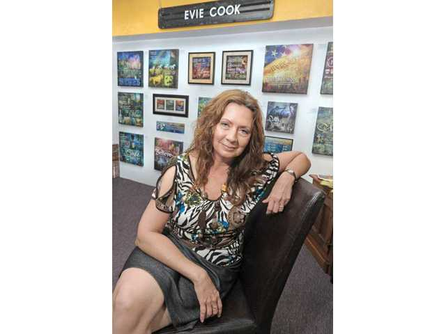 "Digital painter Evie Cook is the featured artist throughout July at OutWest Marketing in Newhall. Her work is titled ""The Inspirational Canvas."""