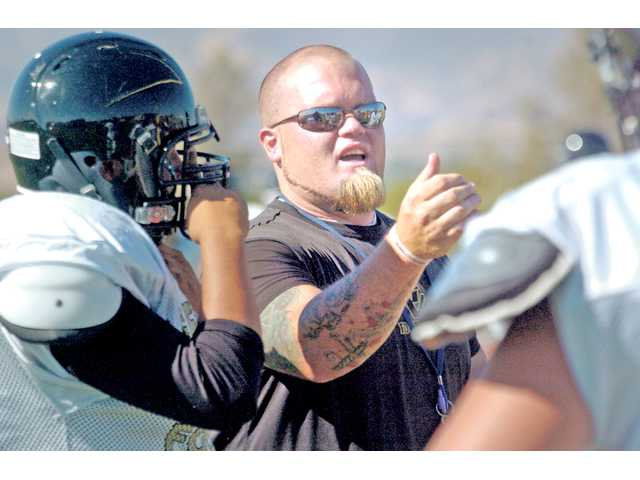 Golden Valley High head football coach Andy Campbell and his staff try to get a better gauge on how hard they can push their players by purposefully putting them in situations designed to test the limits of their frustrations.