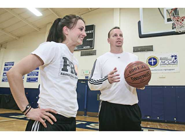 Hart graduate Taylor Lilley, left, has experienced playing for the WNBA's Phoenix Mercury, while former The Master's College player Mike Penberthy won an NBA championship as a member of the 2000-01 Los Angeles Lakers.