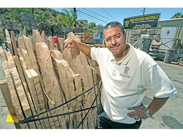 Oscar Sandoval,  president and CEO of Sand Building Materials in Santa Clarita, has found success in the masonry business.