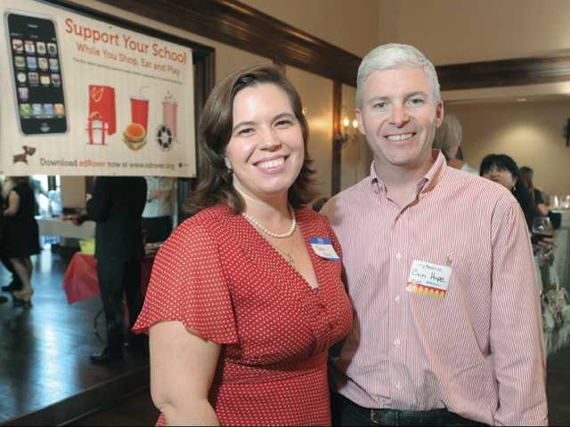 EdRover Founder and CEO Tania Mulry, left, and Ben Hope, senior vice president and chief information officer of Fox Networks Group, at the offical launch reception of edRover at The Paseo Club in Valencia on Wednesday