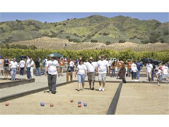 Professional bocce courts are on site at Limoneira Ranch in Santa Paula. A food truck and bocce ball festival will be held at the citrus ranch on Sunday. The family-friendly event will feature food and music.