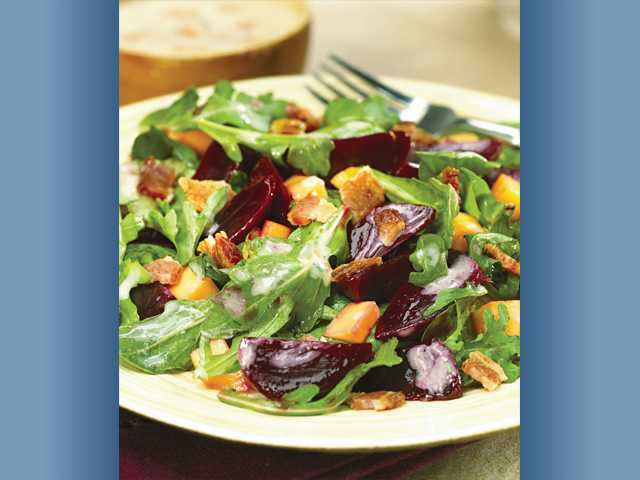 Baja bacon beet salad