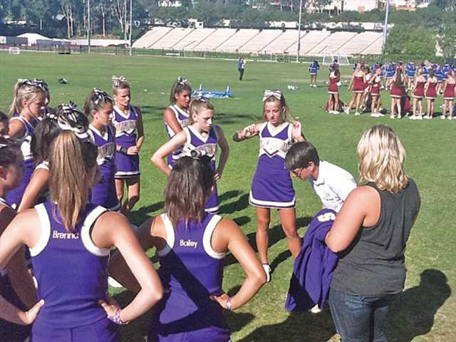 Valencia High's three cheer squads recently attended Camp Champ competitions at UCLA.
