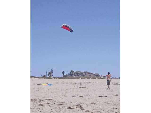 The beach at Ventura is a great place to go fly a kite.