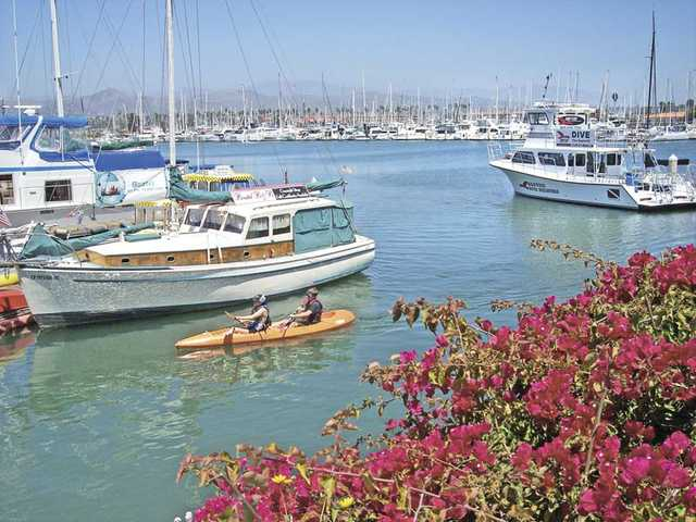 The harbor at Ventura is a great place to wander, have lunch and rent a kayak.