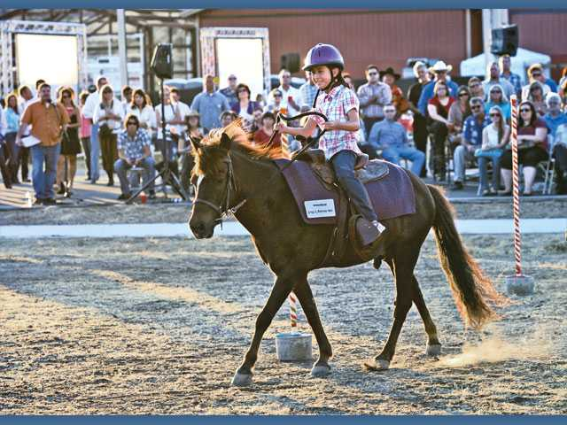 Oceonna Lucero rides Mookie during the riding demonstration.