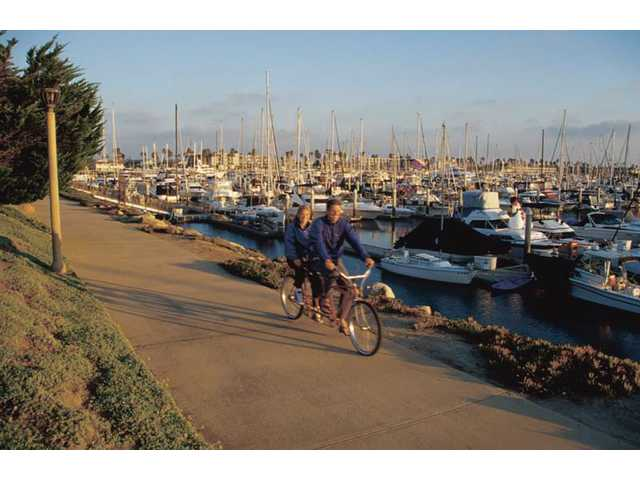 Biking is just one of the activities available in Oxnard, which is less than an hour from the SCV.