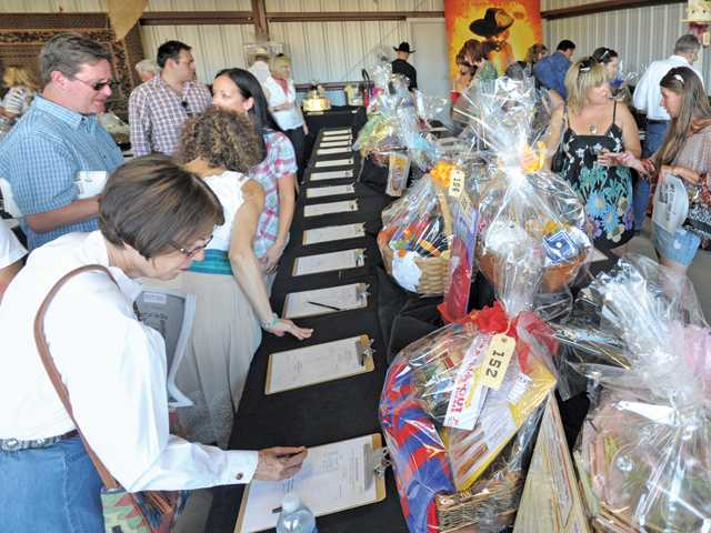 Guests bid on the more than 300 silent-auction items offered.