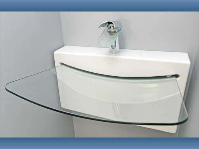 "A LaToscana Crystal Wall Sink, dubbed ""the Rolling Stone sink,"" $4,000 retail."