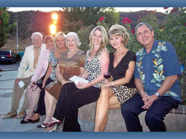 Left to right, Harold Peterson, Lois Bauccio, Cheri Fleming, Jacqulyn Petersen, Laina McFerren, Debbie Heys and Darrell Paulk.