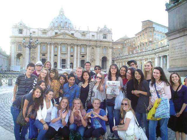 A group of students from Academy of the Canyons and West Ranch High School went to Paris and Rome over spring break with two of their teachers.