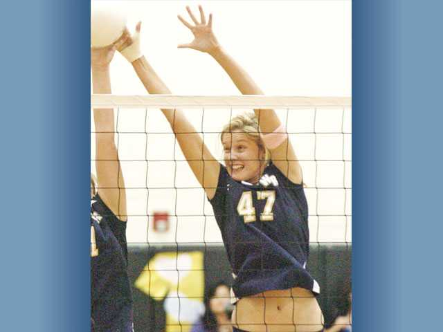 West Ranch senior middle blocker Angel Rutledge will try to slow down some of the Foothill League's potent offenses.