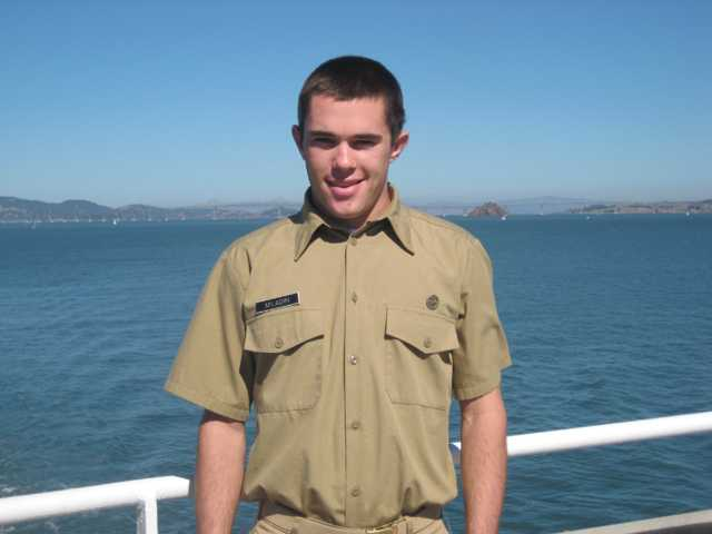 Grant Miladin, a Hart High graduate now attending Cal Maritime College in Vallejo, was diagnosed with Type 1 diabetes at age 6. His mother, Suzanne Miladin, of Valencia, will walk in his honor at the Step Out Walk on Oct. 15.