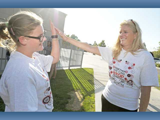 "Leslie Kreuzberger, a Type 1 diabetic, with her ""biggest advocate"" daughter Sydnee."