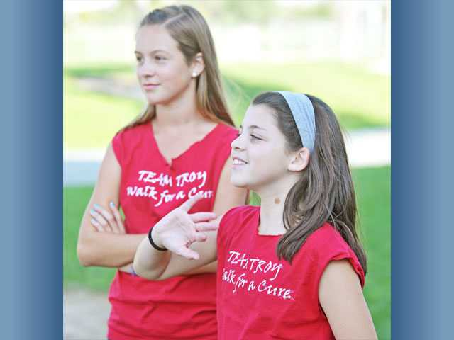 Marriah Maycott, left, and Rachel Blumental of Team Troy will take part. Blumenthal has run lemonade stands to raise funds.