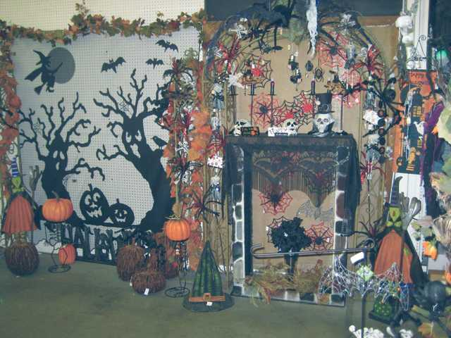 It's a spooky sight at Green Thumb International in Newhall as the store offers a variety of Halloween decor items.