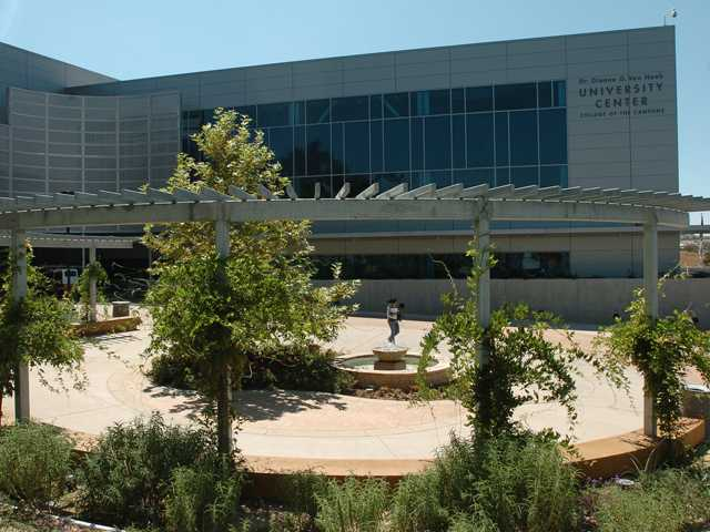 This photo shows the College of the Canyons Valencia campus, where the WorkSource Center is located.