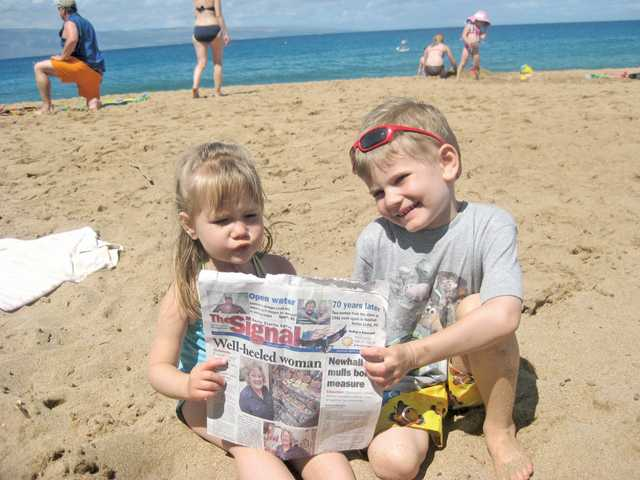 Julina and Zachary Hoffman enjoy the beach in Maui as part of a two-week Princess Cruise to Hawaii in April.
