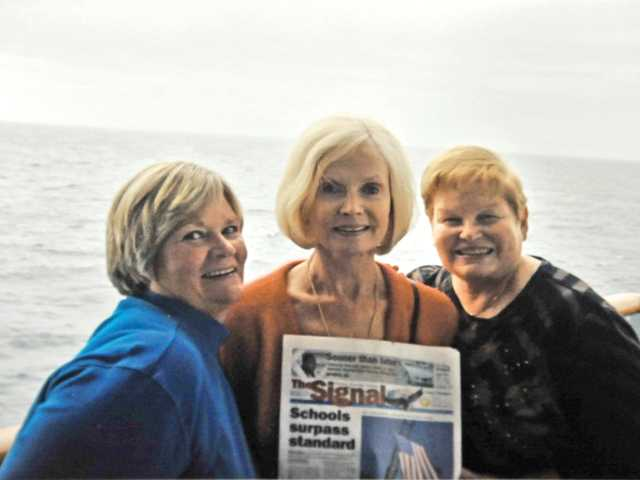 The Lenox sisters, Barbara, Susan and Jean, pose during a cruise in Alaska in September.