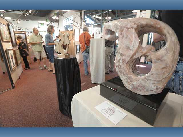 "A sculpture titled ""Hangover"" on display at the Art Classic XXII held at Hart Hall in Newhall."