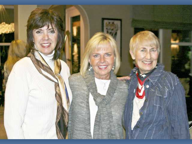Left to right, Sue Reynolds, Cheri Fleming and City Councilwoman Laurene Weste.
